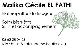 logo Malika Cécile Naturopathe Iridologue